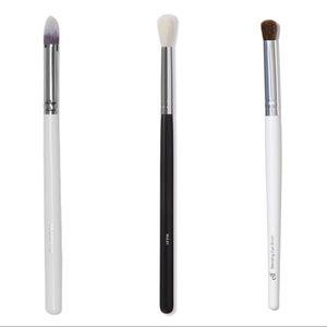 x 3 eyeshadow brush bundle morphe + elf